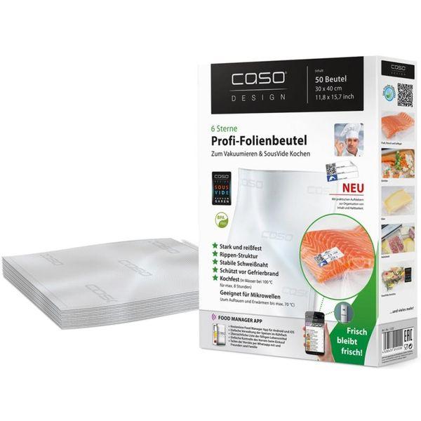 Пакеты для вакуумной упаковки CASO VC 30х40