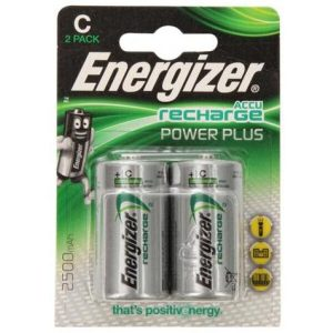 Аккумуляторы Energizer Rech Power Plus C 2500mAh 2 шт.