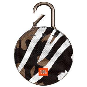 Беспроводная колонка JBL Clip 3 (черно-коричневый камуфляж)