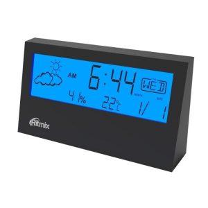 Часы с метеостанцией Ritmix CAT-044 (черный)