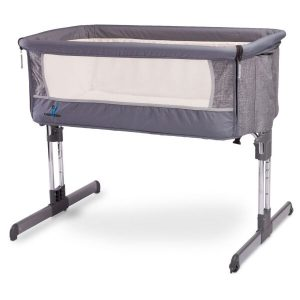 Детская кроватка CARETERO Sleep2gether (графит)