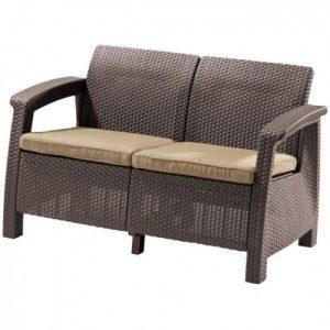 Диван садовый Keter Corfu II Love Seat (коричневый)