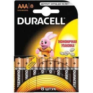 Элементы питания DURACEL LR03/MN2400 8BP