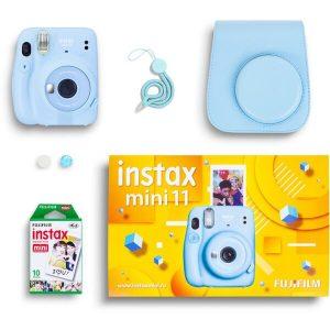 Фотоаппарат FUJIFILM Instax Mini 11 (голубой) Geometric Set