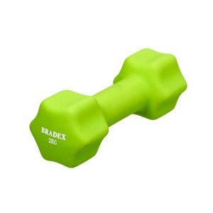 Гантель неопреновая BRADEX SF 0542 2 кг (салатовый)
