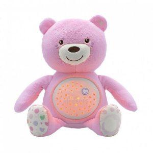 Игрушка музыкальная CHICCO Мишка (розовый)