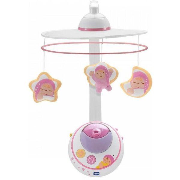 Игрушка музыкальная на кроватку Chicco Волшебные звездочки (розовый)