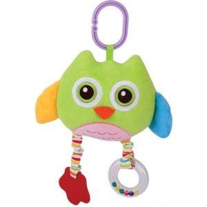 Игрушка-погремушка Lorelli Сова Зеленая с прорезывателем (1019124)