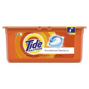 Капсулы для стирки Tide Альпийская свежесть 30x24.8 г