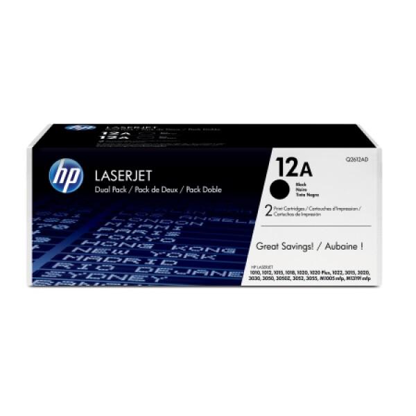 Картридж HP 12A 2-pack Q2612AF