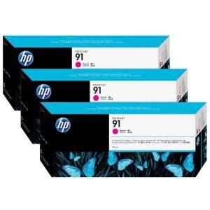 Катридж HP 91 (C9484A) 3 шт для HP Designjet Z6100