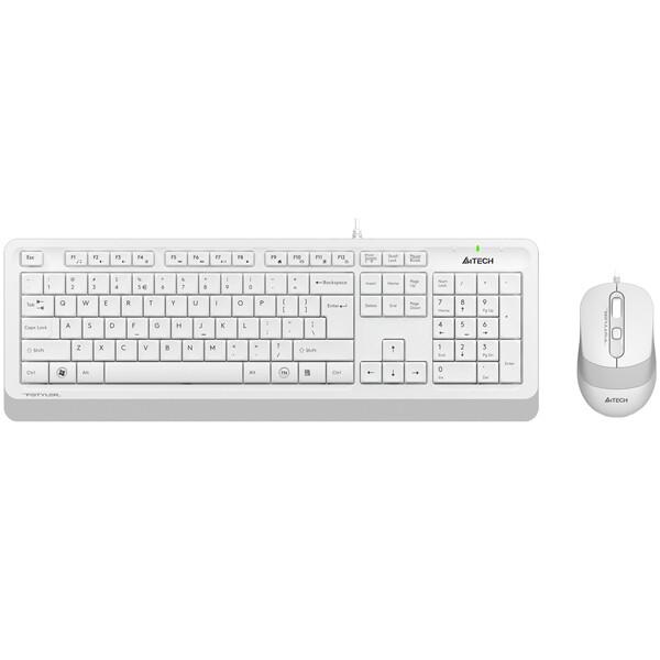 Клавиатура + мышь A4Tech Fstyler F1010 (белый/серый)