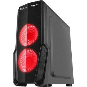 Корпус для компьютера GENESIS Titan 800 Red Midi NPC-1128