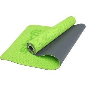 Коврик для йоги и фитнеса Starfit FM-202 TPE (зеленый)
