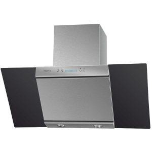 Кухонная вытяжка Maunfeld Gloria 90 (нержавеющая сталь/черное стекло)