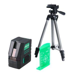Лазерный нивелир FUBAG Crystal 20G VH Set зеленый луч с набором аксессуаров (31628)