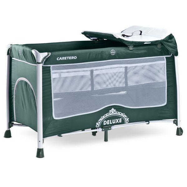 Манеж-кровать CARETERO Deluxe (зеленый)