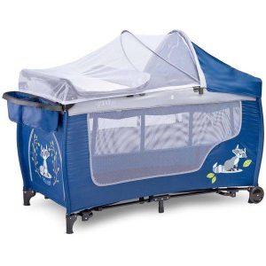 Манеж-кровать CARETERO Grande Plus (синий)