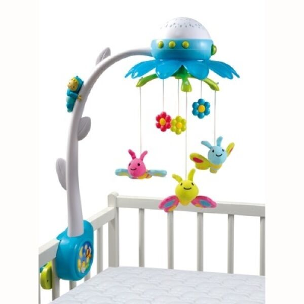 """Музыкальная каруселька на кроватку с проектором """"Цветок"""" Smoby 211374"""