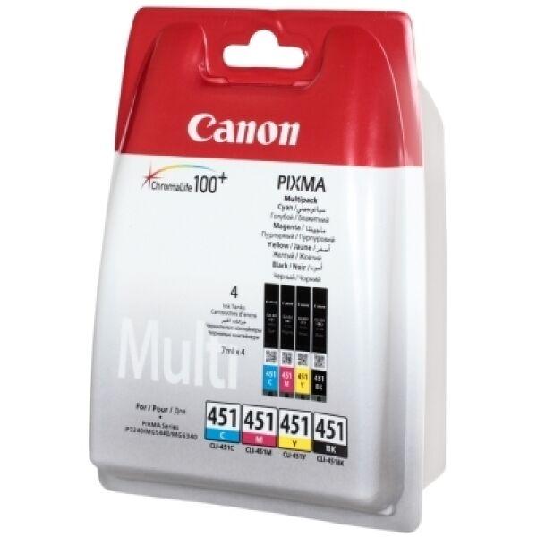 Набор картриджей CANON CLI-451C/M/Y/Bk