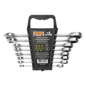 Набор ключей комбинир. трещоточных PRO STARTUL (PRO-7108) 8-19мм 8шт