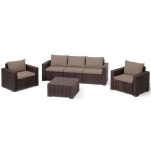 Набор мебели Keter California 3 Set (коричневый)