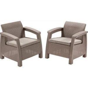Набор мебели Keter Corfu Duo (капучино)