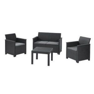 Набор мебели Keter Emma 2 Seater (графит)