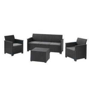 Набор мебели Keter Emma Store 3 Seater (графит)