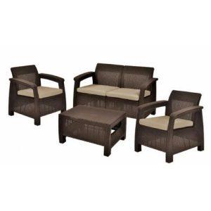 Набор мебели Keter Сorfu II Set (капучино)