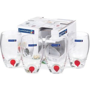 Набор стаканов Luminarc Drip red 10E5230