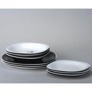 Набор столовый 18 предметов LUMINARC Carine (10N1489) бело/чёрный микс