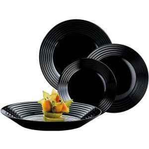 Набор столовый 18 предметов LUMINARC HARENA (10N5162) чёрный