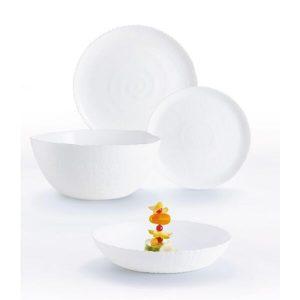 Набор столовый 19 предметов LUMINARC AMMONITE (10P9103) белый