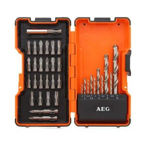 Набор сверел по металлу/бит AEG Powertools POWER HSS-G 4932352249