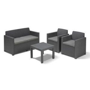 Набор уличной мебели Keter Alabama Set (графит)