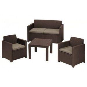 Набор уличной мебели Keter Alabama Set (коричневый)
