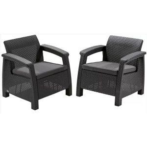 Набор уличной мебели Keter Corfu II Duo (графит)
