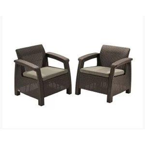 Набор уличной мебели Keter Corfu II Duo (коричневый)