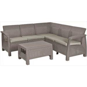 Набор уличной мебели Keter Corfu II Relax Set (капучино)