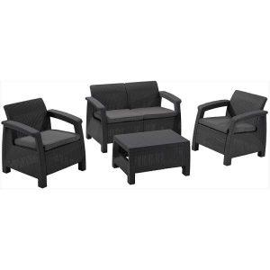 Набор уличной мебели Keter Corfu II Set (графит)