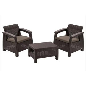 Набор уличной мебели Keter Corfu II Weekend Set (коричневый)