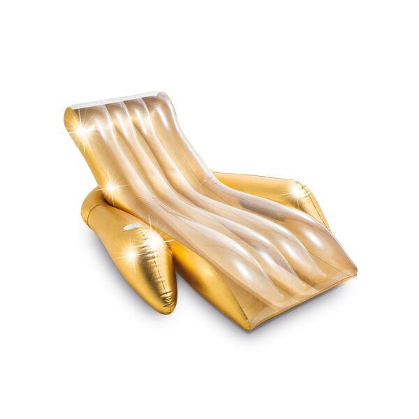 Надувной шезлонг INTEX Shimmering Gold Lounge 56803