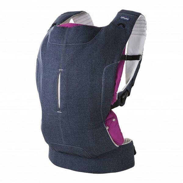 Нагрудный рюкзак-кенгуру Chicco Myamaki Complete (Denim Cyclamen)