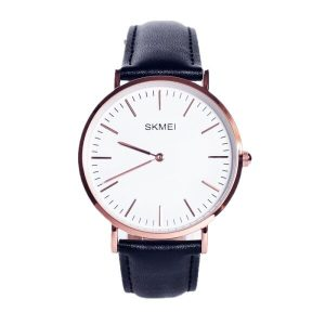 Наручные часы Skmei 1181C (черный кожаный ремень)