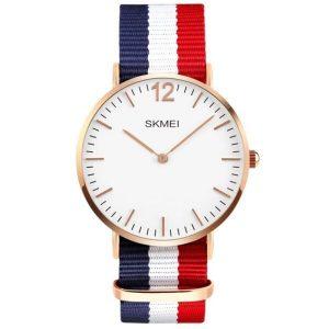 Наручные часы Skmei 1181C (сине-бело-красный нейлоновый ремень)