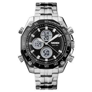 Наручные часы Skmei 1302 (серебристый/черный)