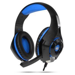 Наушники CrownMicro CMGH-102T USB (синий)