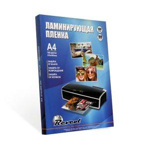 Пленка для ламинирования Revcol глянцевая A4 80мкм 100 конвертов