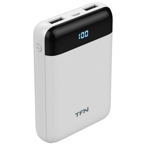 Портативное зарядное устройство TFN Mini LCD 10000mAh (белый)
